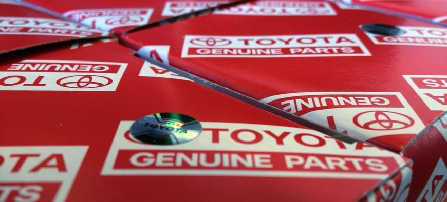Toyota Genuine Parts in boxes